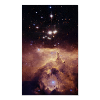 De Oorlog en vrede NGC6357 van NASAs Poster