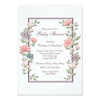 De open BloemenUitnodiging van het Lijst 12,7x17,8 Uitnodiging Kaart