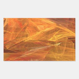 De oranje Abstracte Fractal Sticker van de
