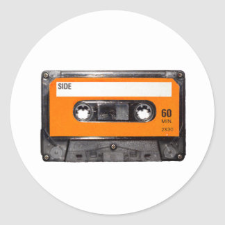 De oranje Cassette van de jaren '80 van het Etiket