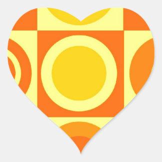 De oranje en Gele Giften van het Patroon van de Hartvormige Stickers