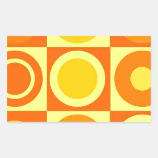 De oranje en Gele Giften van het Patroon van de Rechthoekige Sticker