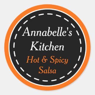 De oranje en Zwarte Stickers van de Keuken