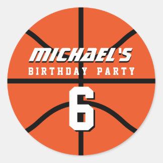 De oranje Partij van de Verjaardag van de Sporten Ronde Sticker