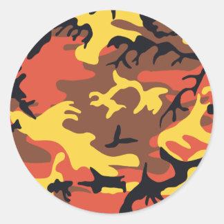 De oranje Sticker van de Camouflage