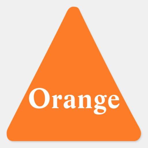 De oranje Sticker van de Driehoek