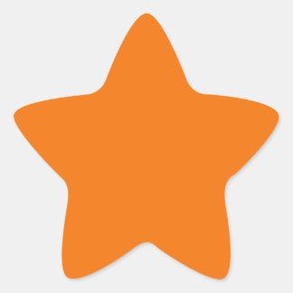 De oranje Sticker van de Ster