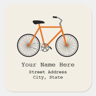 De oranje Sticker van het Adres van de Fiets