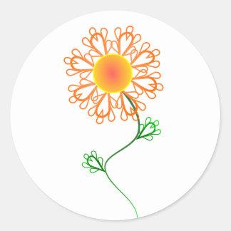 De oranje Sticker van het Ontwerp van de Bloem