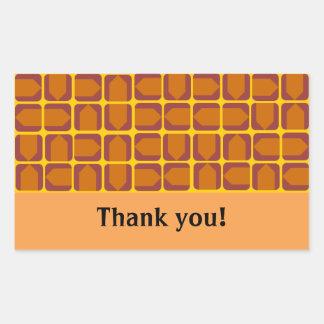 De oranje Stickers van de Pijl