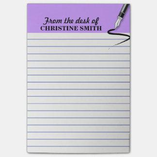 De organisator PERSONALISEERT de PAARSE post-it®- Post-it® Notes