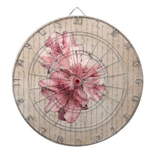 De oude Geïllustreerde Bloem van de Brief Roze Dartbord