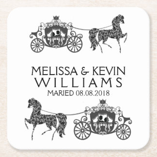 De Paarden van het huwelijk & de Illustratie van Vierkante Onderzetter