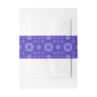 De paarse en Blauwe Band van de Buik van de Uitnodigingen Wikkel