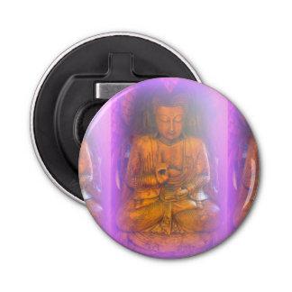 de paarse flesopener van auraBoedha Button Flessenopener