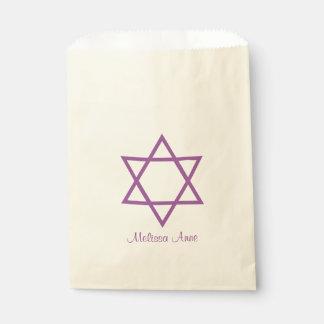 De paarse Gepersonaliseerde Knuppel Mitzvah van de Zakje 0
