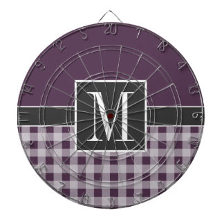 De Paarse Gingang van de aubergine; Monogram Dartbord