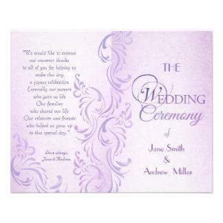 De paarse grungy programma's van het Huwelijk Flyer 11,4 X 14,2 Cm