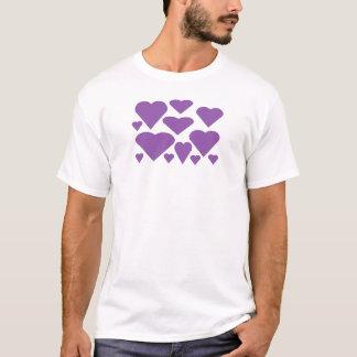 De paarse Harten van de Liefde T Shirt
