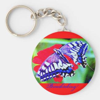 """♠ de papillon machaon"""" ¦1Tiger Keychain1¦ """"de ♠ Porte-clés"""