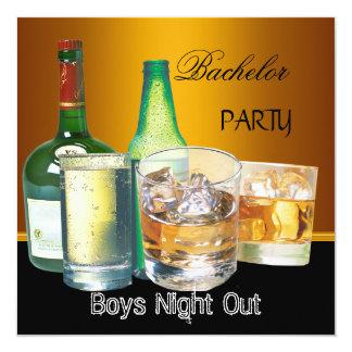 De Partij van de vrijgezel drink de Nacht van de 13,3x13,3 Vierkante Uitnodiging Kaart