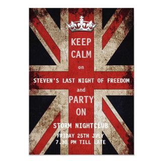 De Partij van de Vrijgezel van de Vlag van Union 12,7x17,8 Uitnodiging Kaart