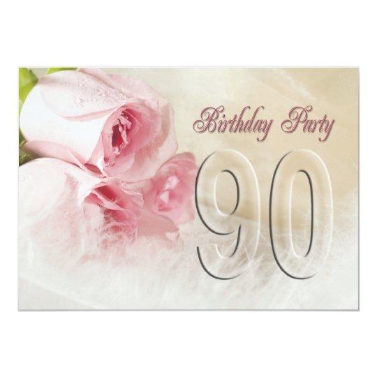 Geliefde De partijuitnodiging van de verjaardag 90 jaar kaart | Zazzle.be #GO76