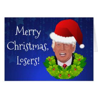 """De """"perdants Joyeux Noël """" drôles d'atout Carte"""