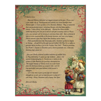De Père Noël de Noël de lettre de photo dos Prospectus 21,6 Cm X 24,94 Cm
