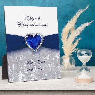 De Plaque van het Jubileum van het Huwelijk van he Fotoplaat