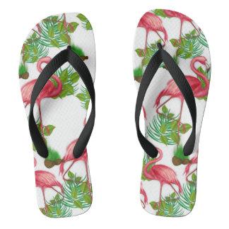 De Ploffen van de Tikken van de flamingo Teenslippers