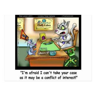 De pluizige Grappige Kat & de Advocaat van Cohen Briefkaart