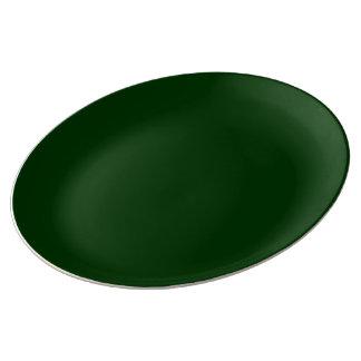 De porcelaine de plat vert uni assiettes en porcelaine