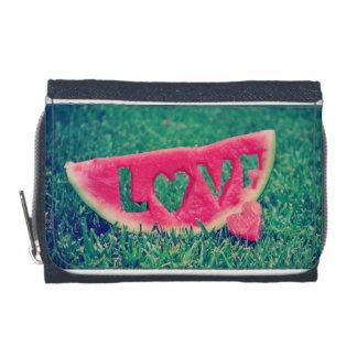 de portefeuille van de watermeloenliefde