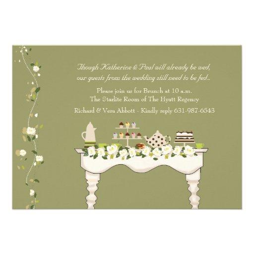 De post Uitnodiging van de Brunch van het Huwelijk