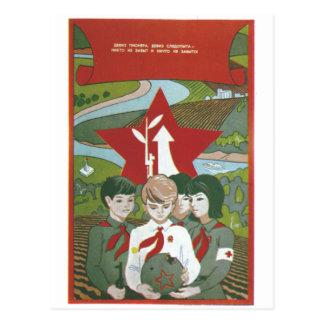 De Posters van de Propaganda van Sovjetunie van de Briefkaart