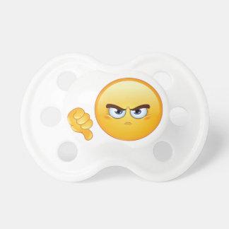De pouces muet d'Emoji vers le bas, tétine