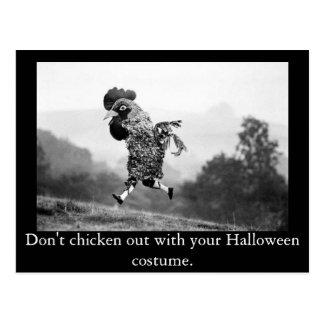 De poulet carte postale de Halloween