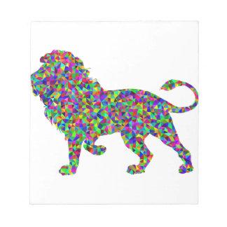 De prismatische Leeuw van de Regenboog Notitieblok