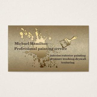 De professionele schilderende dienst visitekaartjes