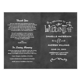 De Programma's van het huwelijk | Charme van het Flyer 21,6 X 27,9 Cm
