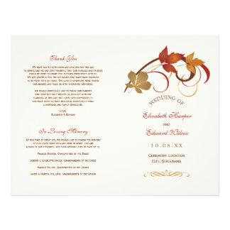 De Programma's van het huwelijk | Dalende Bladeren Flyer 21,6 X 27,9 Cm