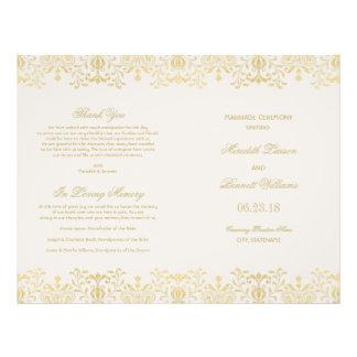 De Programma's van het huwelijk | Gouden Vintage Flyer 21,6 X 27,9 Cm