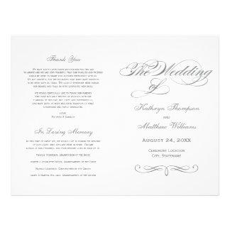 De Programma's van het huwelijk | Grijs Ontwerp Flyer 21,6 X 27,9 Cm