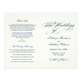 De Programma's van het huwelijk | Marineblauw Flyer 21,6 X 27,9 Cm