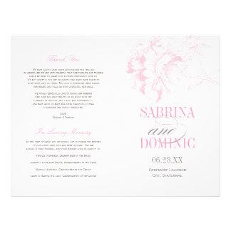 De Programma's van het huwelijk | Roze Pioen Flyer 21,6 X 27,9 Cm