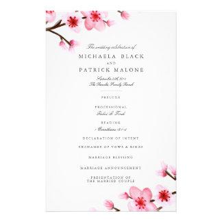 De Programma's van het Huwelijk van de Bloesem van Flyer 14 X 21,6 Cm