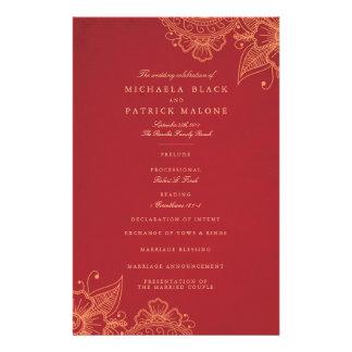 De Programma's van het Huwelijk van mod. Mehandi Folders