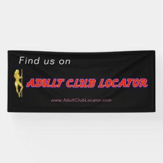 De promotiebanner van AdultClubLocator Spandoek