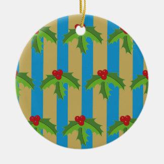De Pudding van Kerstmis Rond Keramisch Ornament